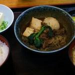 芝田食堂 - すき焼き定食630円