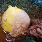 芝田食堂 - 硬すぎる黄身