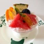マリエ - 夏のフルーツのブランマンジェ@スイカは鳥取産