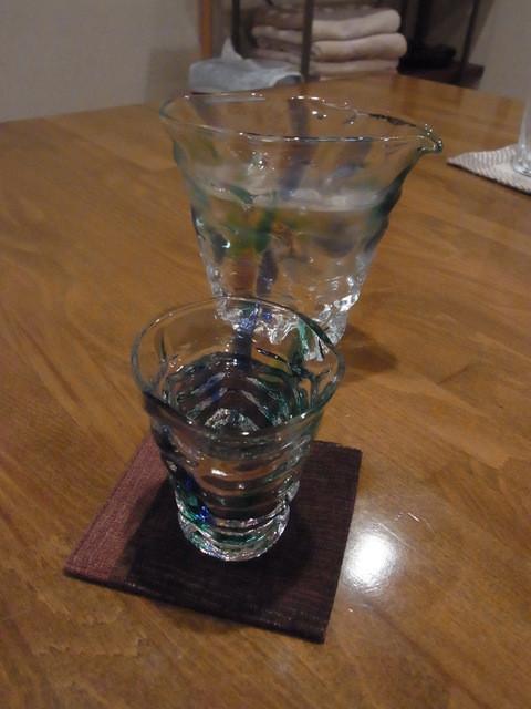 青やぎ - 2013.7)島根の出雲富士が入ったきれいな酒器