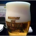 20275756 - 2013.06より、生ビールがプレミアムモルツに変更