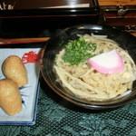 へんこつうどん - 料理写真:ごぼ天うどん400円といなり150円