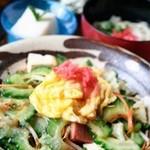 うるうるま - 料理写真:ごーやちゃんぷる定食 苦味の少ない「あばしゴーヤ」使用しています。