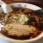 蘭丸 - 支那そば 太麺 大盛り 650円