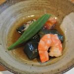 和食 みなみ - 料理写真:お通し 茄子の揚げ浸し 他