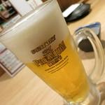串焼き市場 - ザ・プレミアモルツ(中ジョッキ)500円