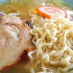 塩苅食堂 - 2013年7月26日(金) 塩ラーメン(650円) スープ、自家製麺、具材