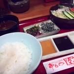 串かつ料理 活 - 塩昆布、かなりの塩が。。。