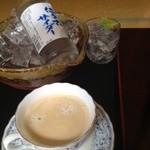 駒ヶ岳温泉 - コーヒー、サイダーを日帰り入浴で頼んだら、こんなに素敵な状態で出していただけました
