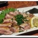 焼とり 源や - 薩摩地鶏たたき