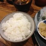 とんかつ 豚ゴリラ - とんかつ 豚ゴリラの白ごはん(13.07)