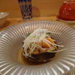 日本料理 空海 - 水茄子うにのせ