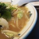 久屋らーめん - 再々再訪みそラーメン大盛りスープの表情