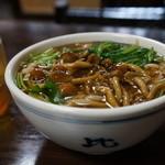 恵比寿本店 - なめこ蕎麦、温(2013.7.24)