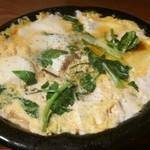 くずし割烹 和dining 一昇 - 湯葉とお豆富せりの玉子とじ
