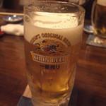 いわ瀬 - 生ビールで乾杯♪