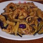 中華の永楽 - 豚肉となすのみそ炒め(580円)