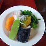 203216 - 野菜の炊き合わせ銀餡かけ