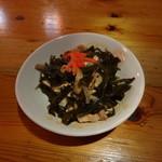 沖縄料理おとざ - クーブイリチー 550円 千切り昆布の炒め煮