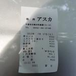 20302163 - レシート・・・確かに950円すね。