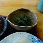 たぬき庵 - ほうれん草の胡麻和え