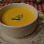 フランス料理遊心 - 本日のスープ(かぼちゃの冷製スープだったような)