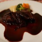 フランス料理遊心 - 牛頬肉の赤ワイン煮