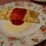 フランス料理遊心 - 桃のクレープ包み