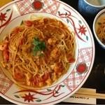 五右衛門 広島五日市店 - オマール海老のビスクスープスパ、レディースセット(飲み物付き)