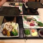 日本料理 矼 - お造りと野菜焼き! 刺身を焼いても美味しい〜