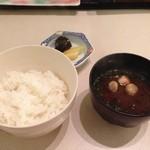 日本料理 矼 - ごはん、味噌汁、漬物!