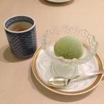 日本料理 矼 - デザートは抹茶アイス! ご馳走さまでした!
