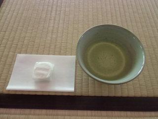 喜泉庵 - 抹茶(干菓子つき)¥500
