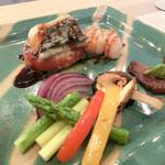 四季彩鉄板くさの - 鮮魚と貝柱の香草バターソース