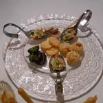 20311359 - イタリア風小さな前菜盛り合わせ(ミニピッツアなど)