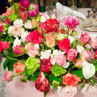 バラ100本の花束とフレンチフルコース特別な記念日を・・・