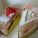 パティスリー・ショコラトリー サンニコラ - ミルフィーユ、桃のショートケーキ