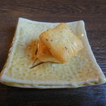 kyoumachiyasabousouzen - 試食のおかき