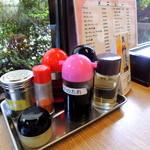 亀次郎 - 2013年7月28日(日) テーブル席卓上