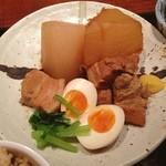 麹村 - ランチ。角煮定食。 大根でお腹いっぱい。