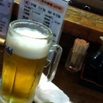 丸一 - ビールとお通し