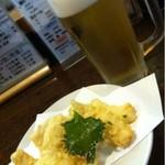 丸一 - ビールと烏賊の天ぷら