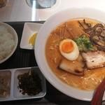 まるげん - 海老とんこつBセット(850円)