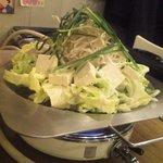 2033861 - 「ホルモン鍋」+豆腐。before