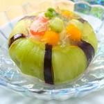 北浜 懐食 こおげ - 冷やし鉢 加茂茄子の水晶煮