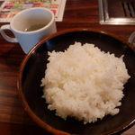 20332826 - 定食のご飯と卵ワカメスープ