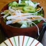 旬菜古民家 ゆるり - みそすき御膳のサラダ