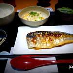 雑魚屋 - 焼き魚と手作り豆腐のランチ570円(税込598円)