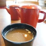 大黒屋 - 蕎麦湯と足しの漬け出汁(2013.725)