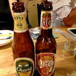 ニランカフェ - レオビールとチャーンビール